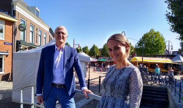 """Han Verhoog(l) en Iris Lengkeek. ,,Citymarketing is essentieel voor een kleine stad."""""""
