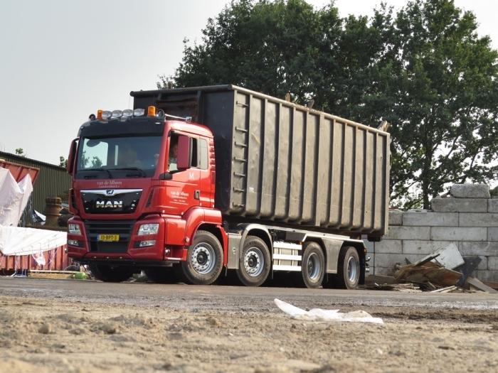 De nieuwe MAN TGS aan het werk Ronald de Boer © BDU media