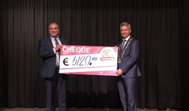 <p>Burgemeester Heijkoop en Wiljan Vloet (directeur Stichting Roparun). </p>