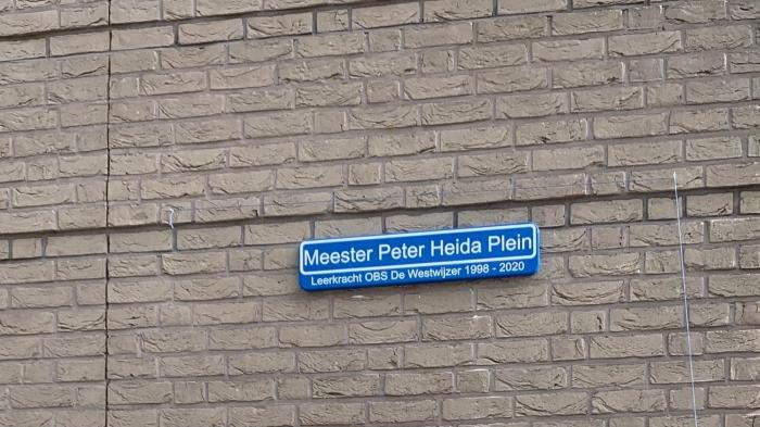 Het Meester Peter Heida Plein OBS De Westwijzer © BDU media
