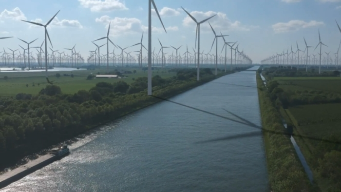 Nederland: een groot windmolenpark