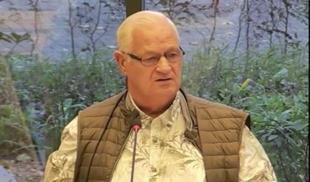 Piet Kohlberg stelde SP'er Eva Dansen een gewetensvraag vanaf de zeepkist