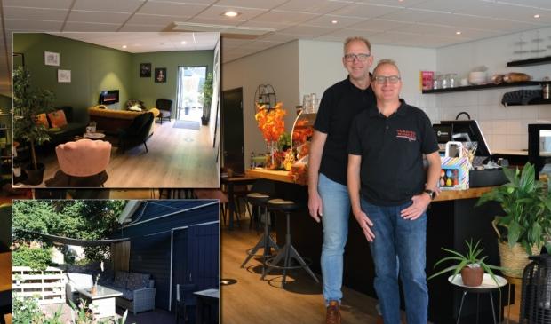 Richard en Marco Velzing-Westerink: ,,Gasten kunnen nu met ontbijt, lunch en vlaai bij ons terecht.''