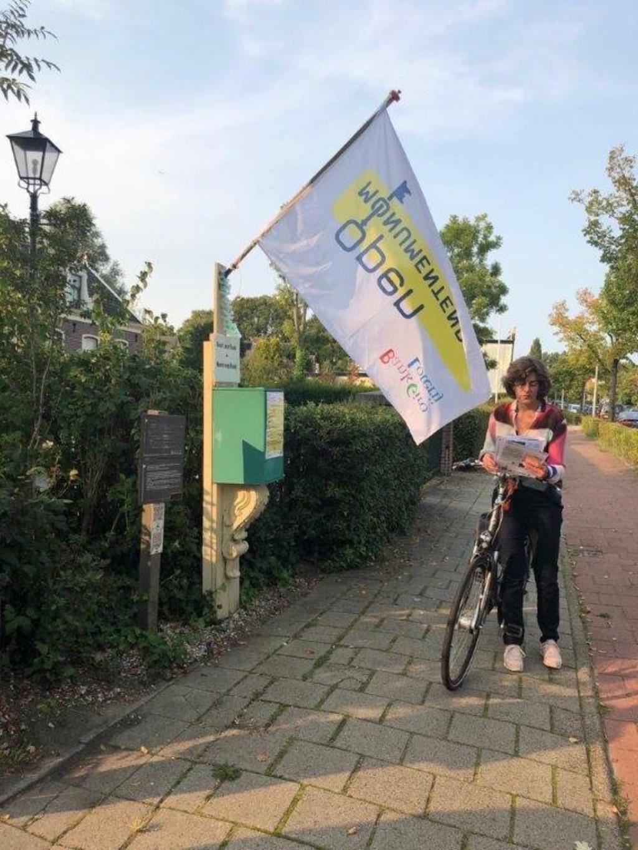 Tijdelijk afhaalpunt in Duivendrecht voor de Monumentenroutes. Marianne Wintershoven © BDU media