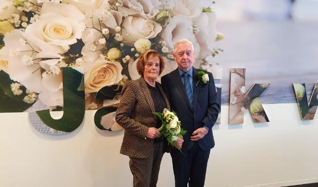 <p>An en Albert op hun trouwdag</p>