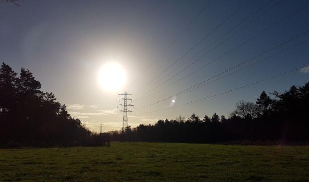 Najaarsmorgen met heldere zon boven het Edese Bos.