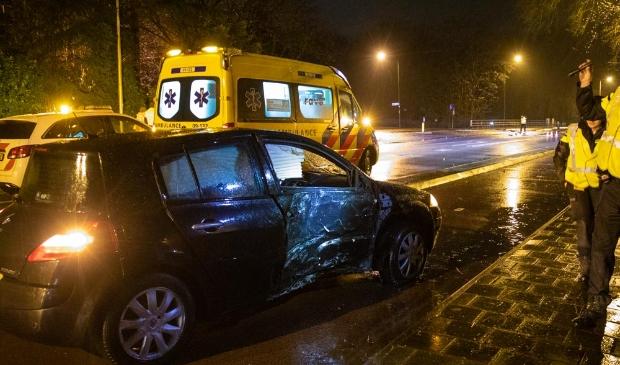 <p>De auto raakte zwaar beschadigd bij het ongeval.</p>
