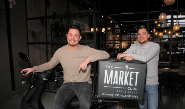<p>Rob Leemker (l) en Stef van Campen: &quot;Hoofddorp-eet.nl maakt eten bestellen weer leuk, eerlijk en bewust.&quot;</p>