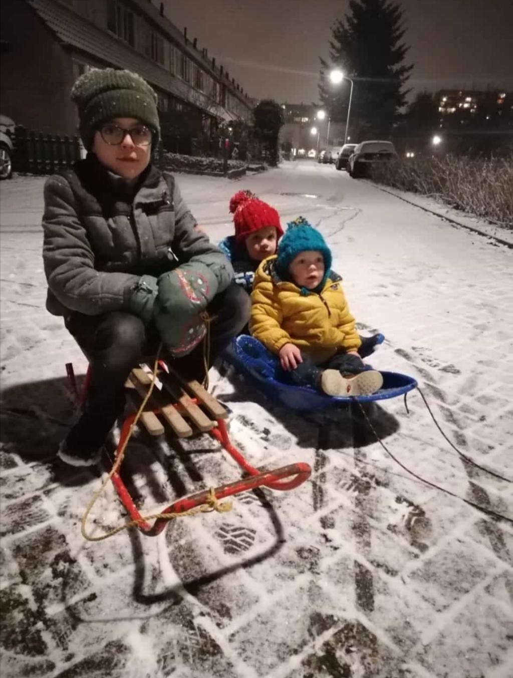 <p>Sneeuwpret, ook al was het maar kort.</p> Jose Langstraat © BDU Media