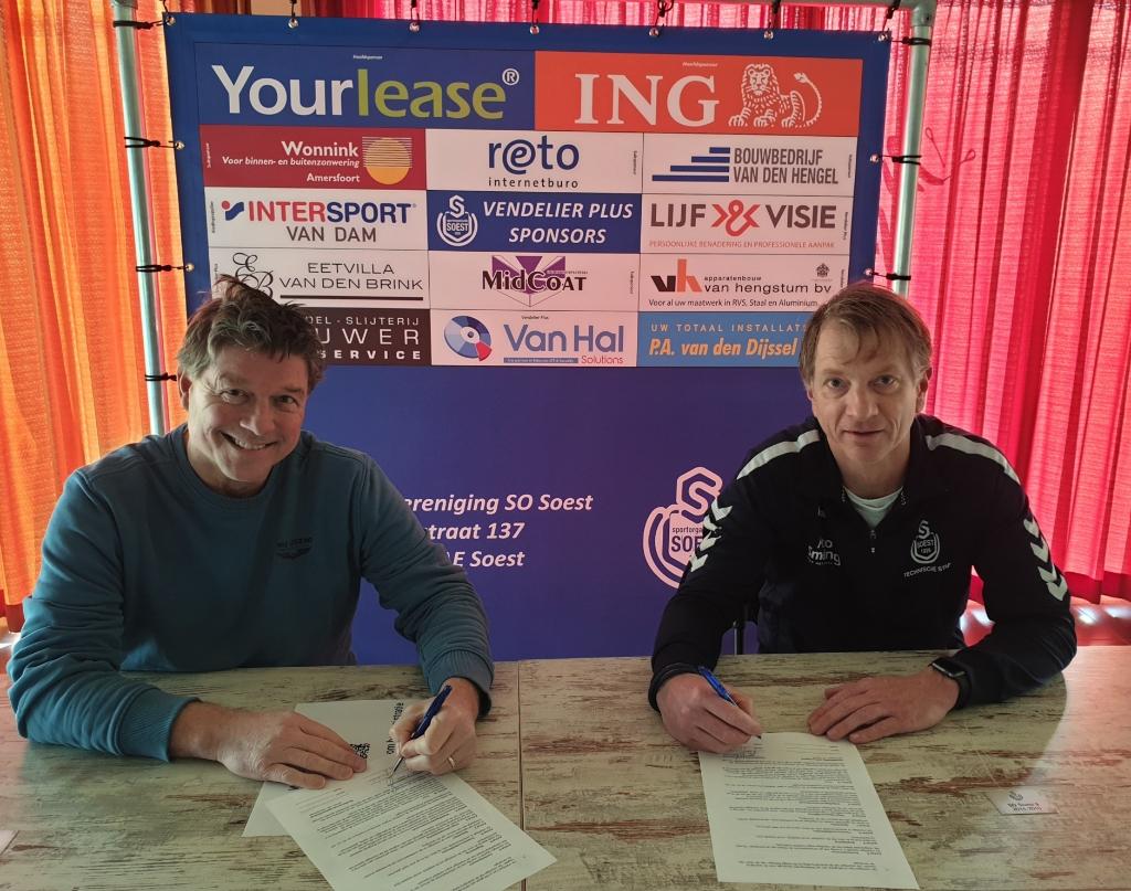 Jeroen van Veenendaal vormt ook volgend seizoen een trainersduo met Jordie Brouwer SO Soest © BDU media