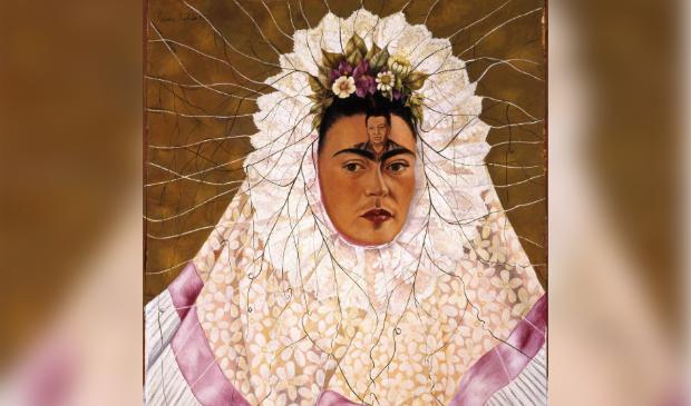 <p>Zelfportret van Frida Kahlo.</p>
