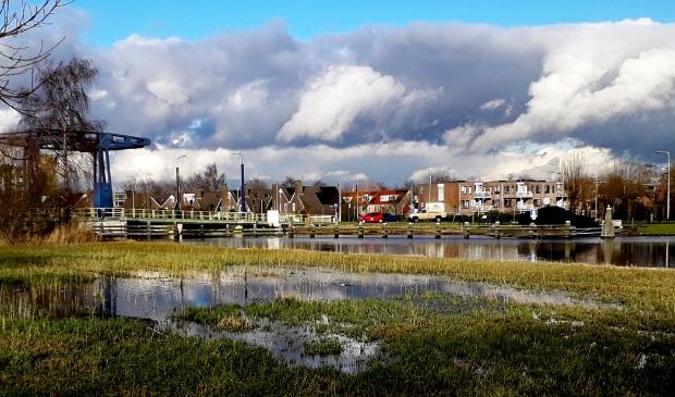 De omgeving van de Benninghbrug op zaterdagmiddag 23 februari jl. genomen vanaf Ronde Hoep Oost.