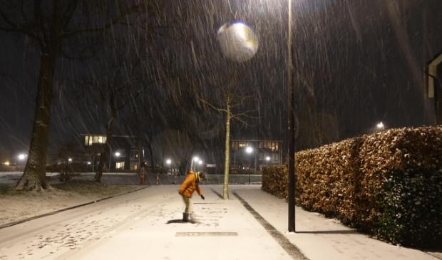 ,,Avondsneeuw in Putten''. Mahima van den Brink © BDU media