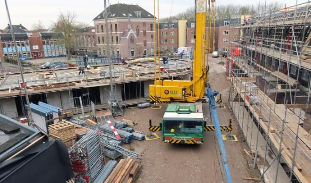 <p>De bouw van de appartementen Helden van Gorkum in de binnenstad</p>
