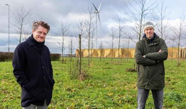 <p>Duco van Dijk en Jelger Takken willen bewoners betrekken bij duurzame energie.</p>