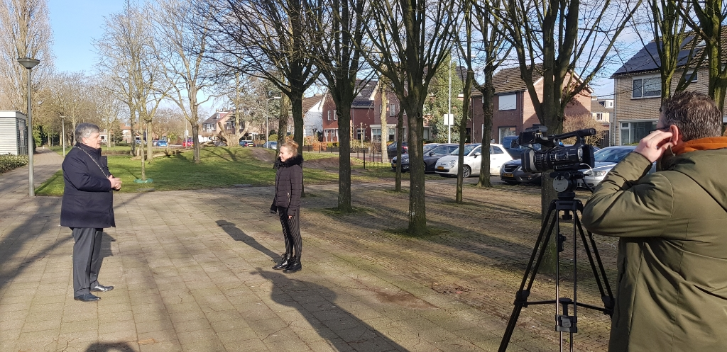 <p>De opname van de video.</p> <p>Marieke Michielsen</p> © BDU media