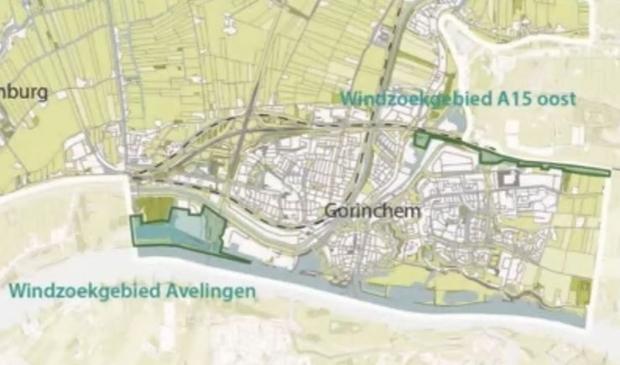 <p>In Gorinchem zijn twee zoekgebieden voor windmolens aangewezen</p> <p>gemeente Gorinchem</p> © BDU Media