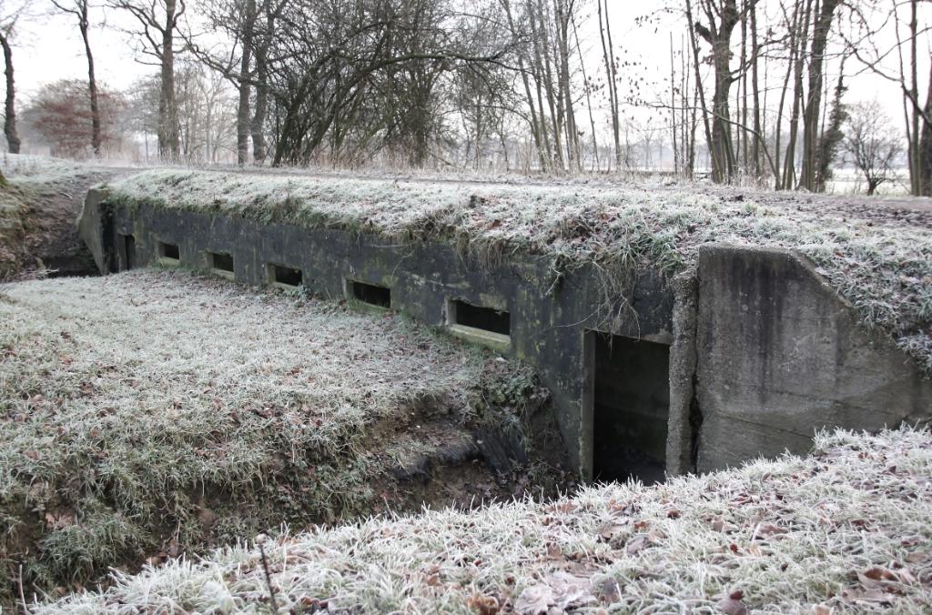 Fort Rhijnauwen in het winterse landschap Gemmy Cornetz © BDU media