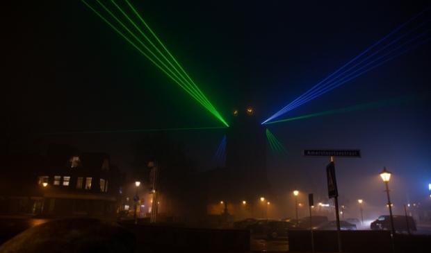Lasershow Barneveld en Voorthuizen Bram van den Heuvel © BDU media
