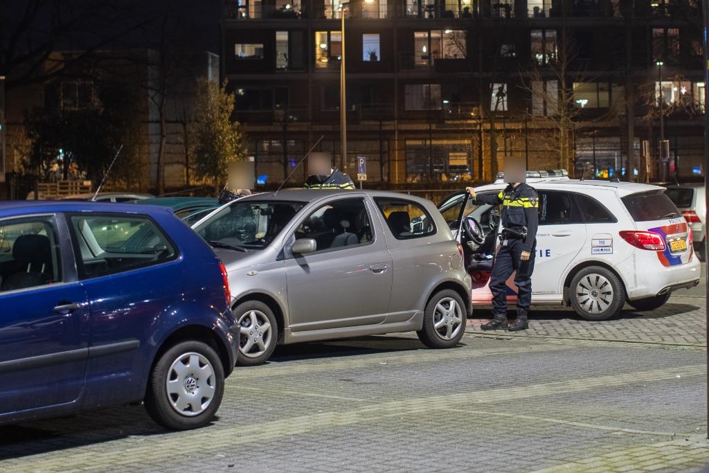 <p>Even na 2100 uur was de politie duidelijk in het straatbeeld aanwezig</p> Ted Walker  © BDU Media