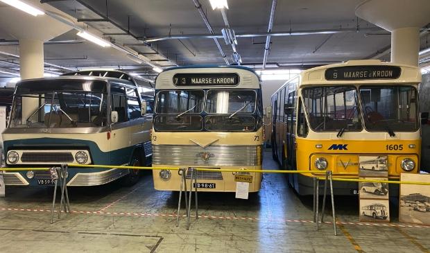<p>Oude bussen in het Nederlands Transport Museum uit Nieuw-Vennep.&nbsp;</p>