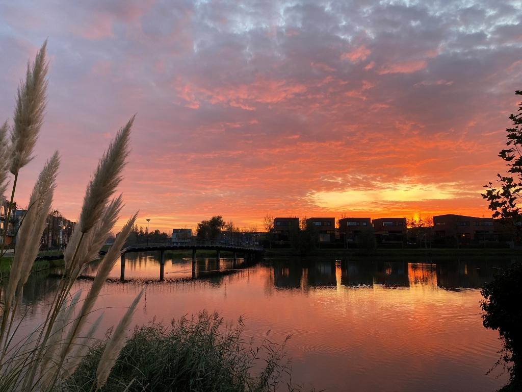 De Nabuccosingel krijgt dankzij Wilco de Vries en de ondergaande zon iets mystieks. Wilco de Vries © BDU media