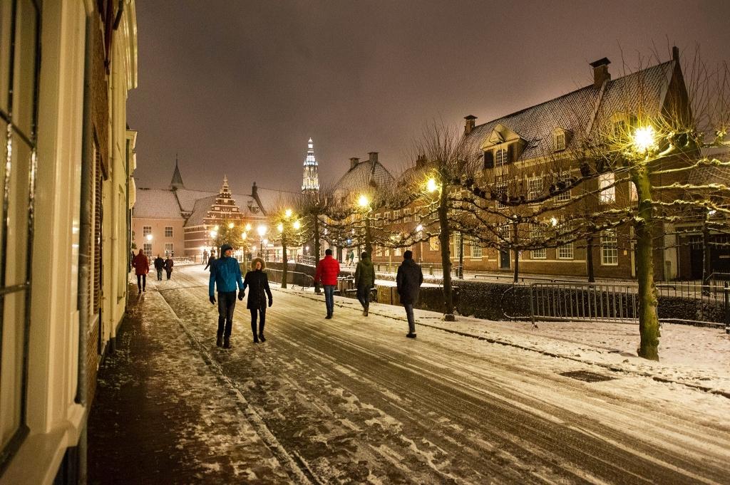 Eindelijk sneeuw in Amersfoort Rinus van Denderen © BDU media