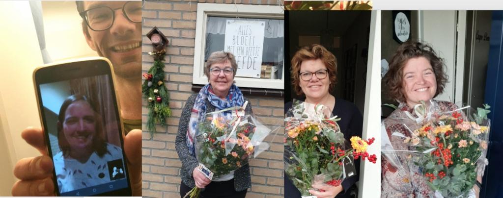 <p>De drie genomineerden werden eerder verrast met bloemen: Fenneke van der Vegte, Janske Bakker, Froukje Heidt-Bijkerk en Mariska Stehouwer.</p> <p>Martijn Kleppe</p> © BDU media