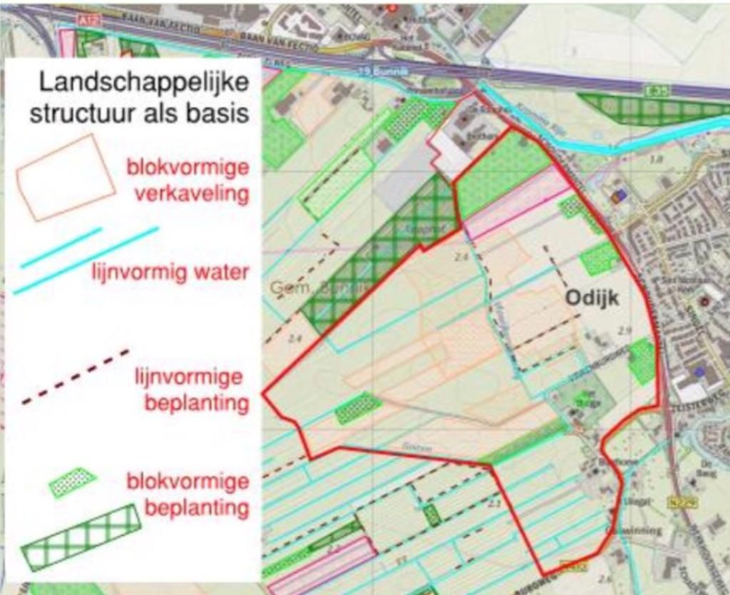 <p>Een plankaart die samenhang met de structuur van het landschap laat zien</p> Webinar gemeente Bunnik © BDU media