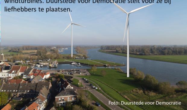 Dit zijn fictieve windturbines bij de stadshaven