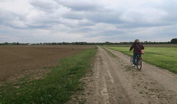 Het open landschap ten westen van Odijk waar in elk geval 1000 woningen zullen verrijzen