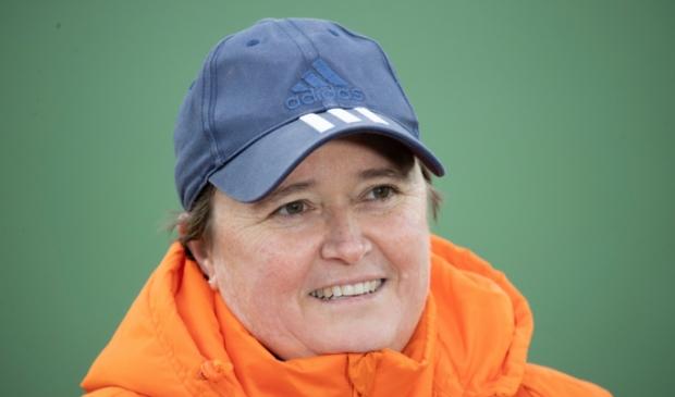 <p>De coach van het Nederlandse team Alyson Annan.</p>