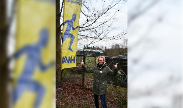 Winnares op de 9.0 km Mieke Hermans