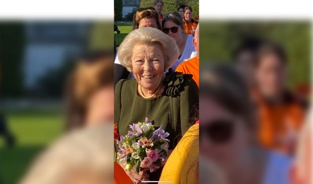 Prinses Beatrix weer even terug op Soestdijk.