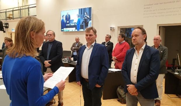 <p>Bas van der Schild (links) en Rob Besseling.&nbsp;</p>