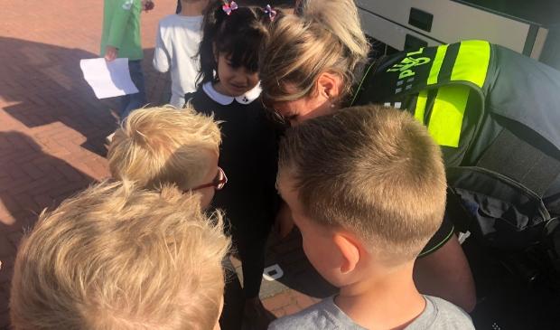 politie bezoek op school