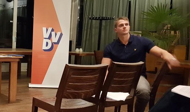 <p>De nieuw gekozen lijsttrekker van de VVD, Sven Drommel.</p>