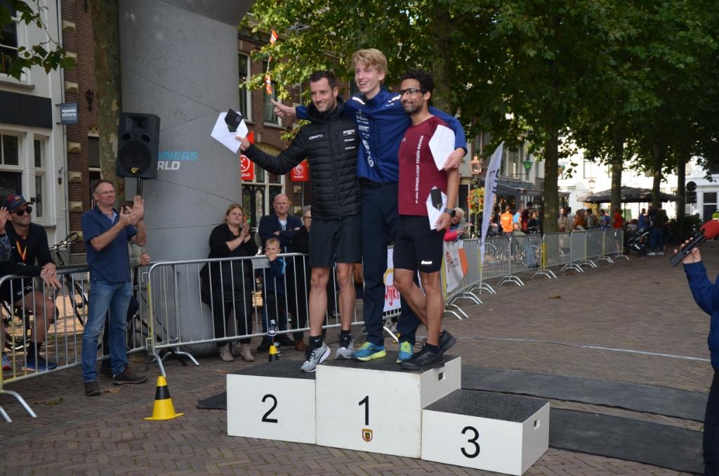 De winnende mannen op de 5 km Ali van Vemde © BDU media