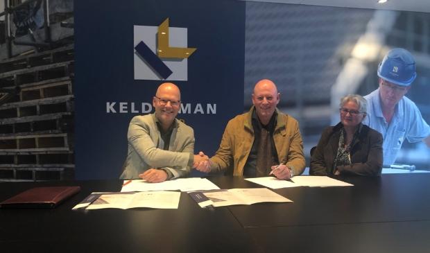 Van links naar rechts: Kees Blotenburg, Jos Bolsenbroek en Anja Bolsenbroek-van Voorthuizen