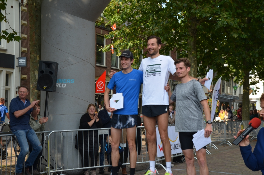 De winnende mannen op de 10 km Ali van Vemde © BDU media