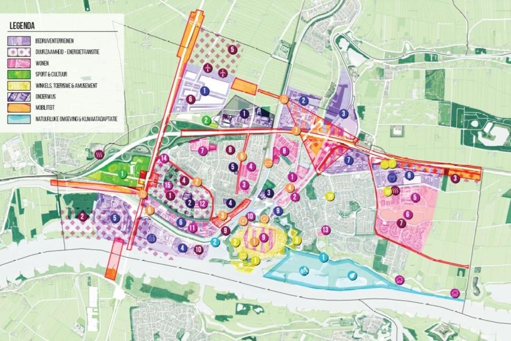 Overzicht van alle bouwplannen in de stad Gemeente Gorinchem © BDU Media