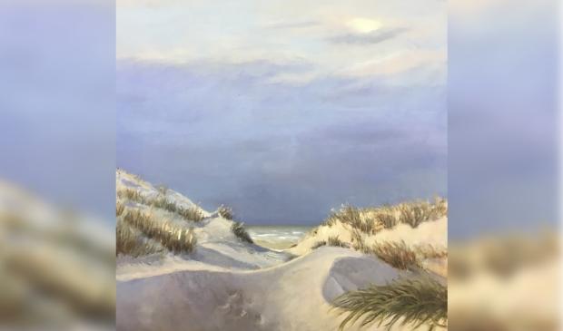 Duinen, schilderij Yolanthe Zwaak