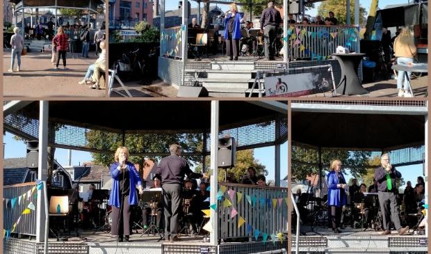 Triple B Big Band vanuit de muziektent in Bennekom