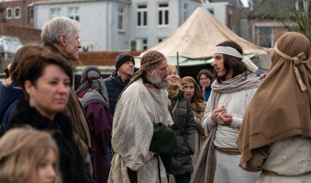 Jezus in gesprek met een bedelaar