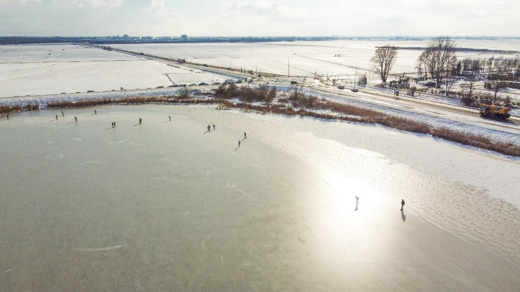 Schaatsen op het Randmeer Aalt Guliker © BDU Media