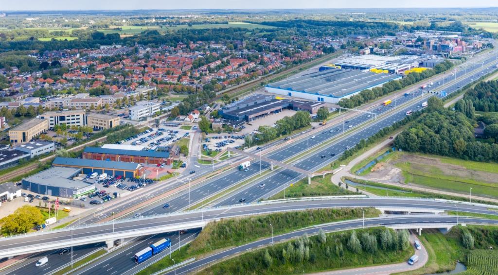 <p>De omgeving van het station Bunnik vanuit de lucht</p> <p>Diego Rosero voor GBC</p> © BDU media