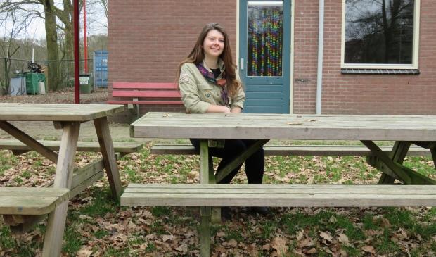 <p>Arwen van der Leeuw helpt met veel plezier bij Scouting Tarcisius.</p>