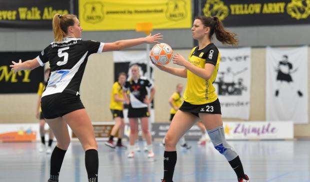 Korfbal Leaguewedstrijd tussen Dalto/Klaverbladverzekeringen en KCC/CK Kozijnen op Saturday 6 February 2021, einduitslag 22-18