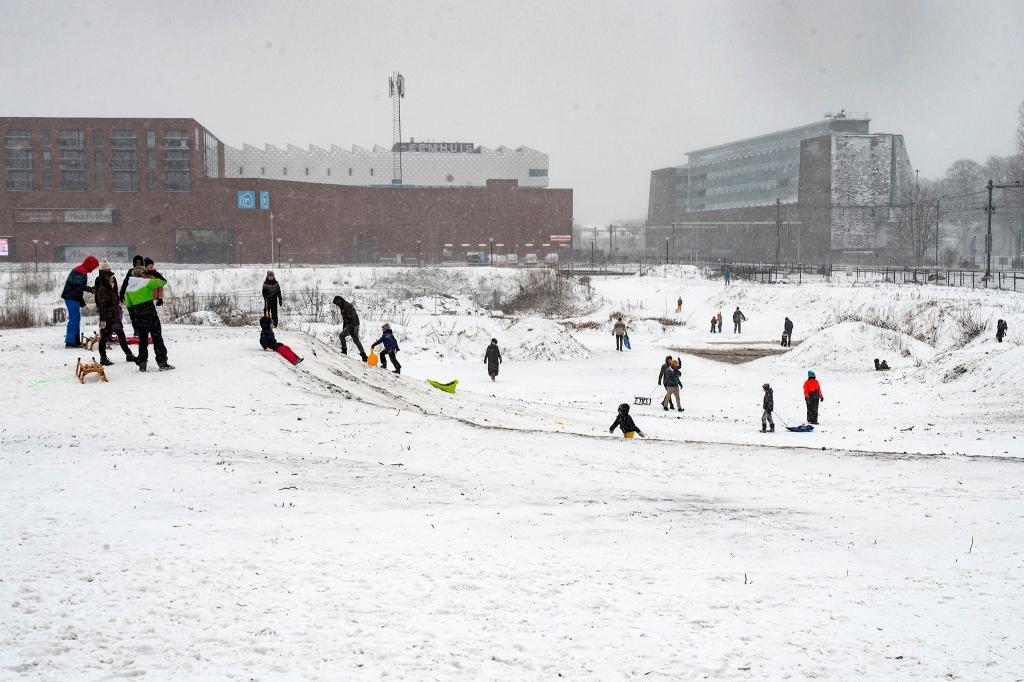 Sneeuwpret in Amnersfoort Rinus van Denderen © BDU media