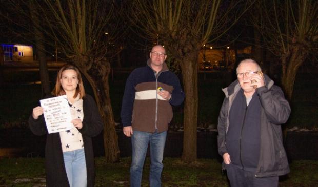 <p>Maria Stam, Alfons van Zanten en Ren&eacute; Serno zijn de drie initiatiefnemers voor het levensechte Cluedospel.</p>